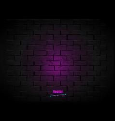 dark brick wall vector image
