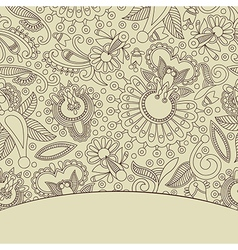 Decorative background with ornament vector image