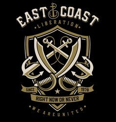 East coast anchor vector