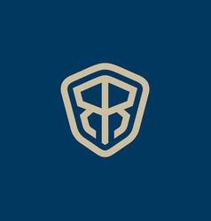 Elegant letter r shield logo icon vector