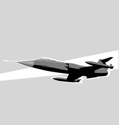 f-104 starfighter fighter jet in sky vector image