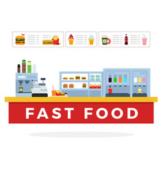 fast food counter vector image