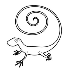 fast lizard icon outline style vector image