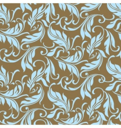 Feather floral seamless pattern vector