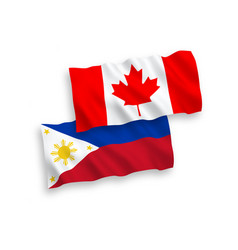 Flags canada and philippines on a white vector