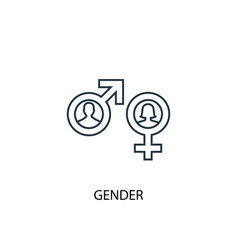 gender concept line icon simple element vector image