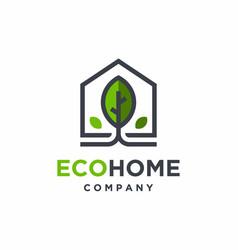 green house logo design nature house logo vector image