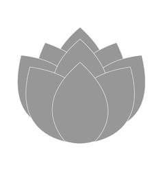 grey flower icon vector image vector image