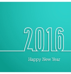 Happy new year 2016 paper postcard vector image