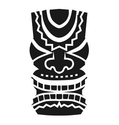 Hawaii idol icon simple style vector