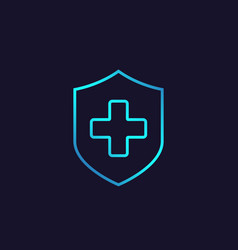 Health insurance linear icon vector