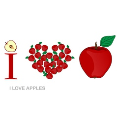 i love apples vector image