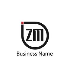 Initial letter zm logo template design vector