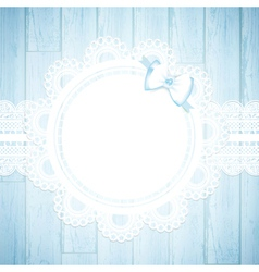 Lace round frame vector