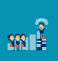 leader speaking to colleague concept cute vector image