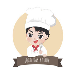 logo chef boy vector image