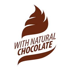 Logo cream with natural chocolate vector