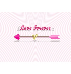 Love arrow with couple of rings vector image