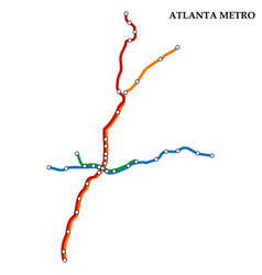 map metro subway vector image