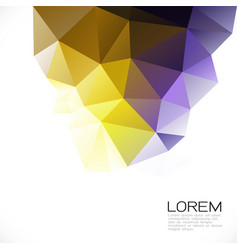 Modern colorful geometric template on below part vector