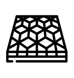 Mosaic floor line icon vector