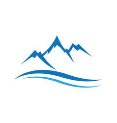 Mountains logo icon vector
