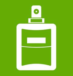 perfume icon green vector image