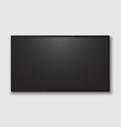 realistic tv screen vector image