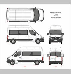 Renault master passenger van l2h3 2014-2019 vector