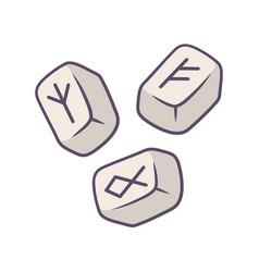rune stones color icon scandinavian nordic vector image