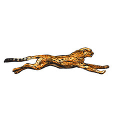 running cheetah hand drawn in vector image