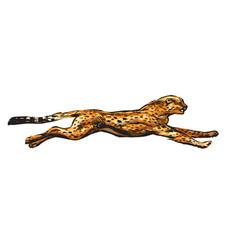 Running cheetah hand drawn in vector