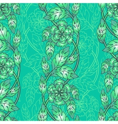 seamless background with floral branches Intricate vector image