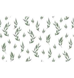 seamless leaves pattern design for banner poster vector image