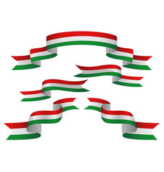 set of hungary insignia in different shape of vector image