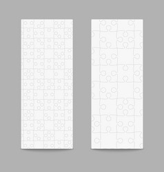 Set puzzle jigsaw cards flyers brochures booklets vector