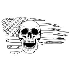 skull and flag usa graphics vector image
