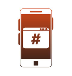smartphone programming code symbol red lines vector image
