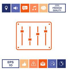 sound mixer console icon vector image