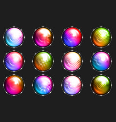 sphere dot ball abstract dotted circle glowing vector image