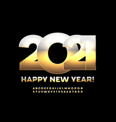 stylish greeting card happy new year 2021 vector image
