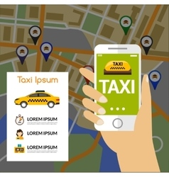 Taxi Navigation Map vector