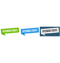 Upcoming events banner sign upcoming events vector