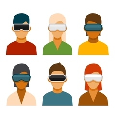 Virtual Reality Glass Avatar Set vector image