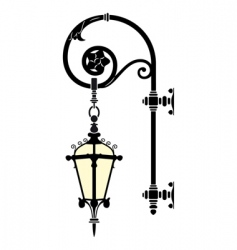 Wall street lamp vector