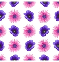 watercolor seamless floral pattern vector image