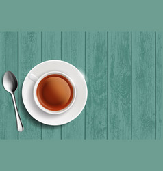 white cup with herbal tea vector image