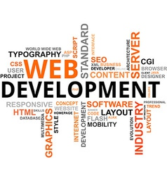 word cloud web development vector image