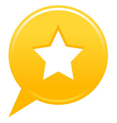 Yellow map pin favorite icon white star sign vector
