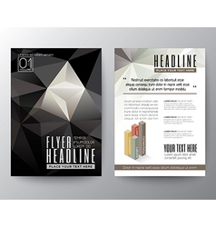Abstract Black Triangle Geometric Brochure Flyer vector image vector image
